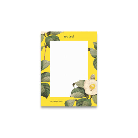 Camellia Floral Notepad