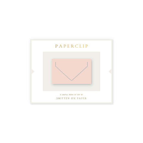 Large Envelope Paperclip • Blush