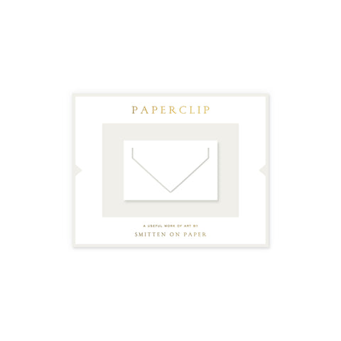 Large Envelope Paperclip • White