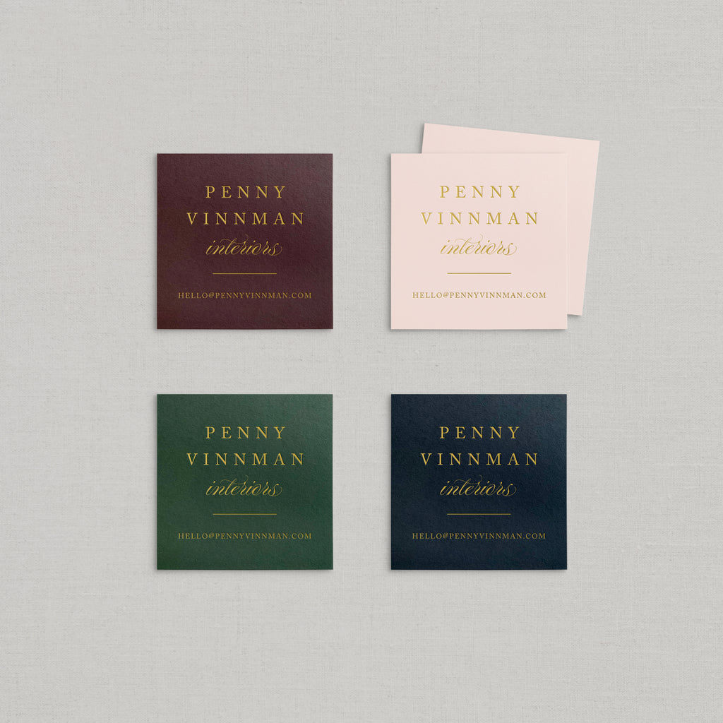 Penny Business Cards Foil