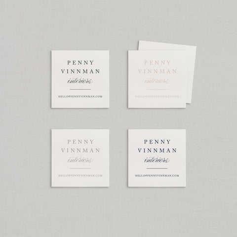 Penny Business Cards Letterpress