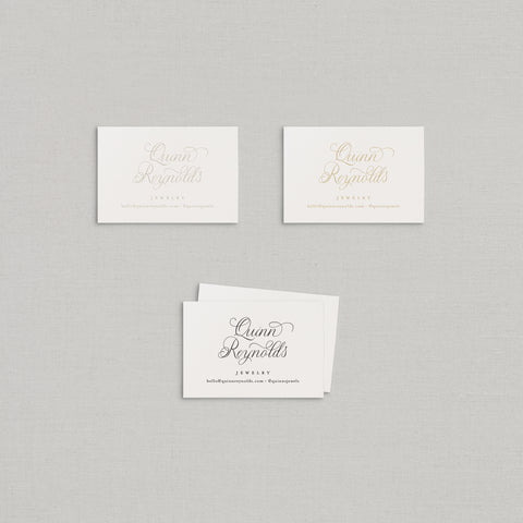 Quinn Business Cards Letterpress