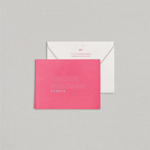 Rachel Personalized Stationery Small Tented