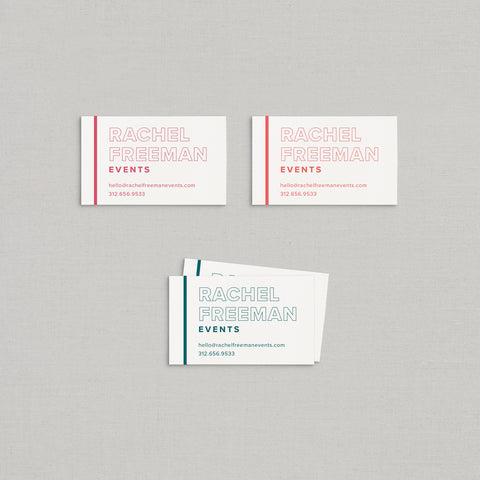 Rachel Business Cards Letterpress