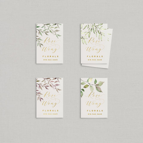 Rose Business Cards Watercolor + Foil