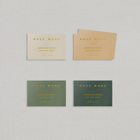 Rose Business Cards Foil