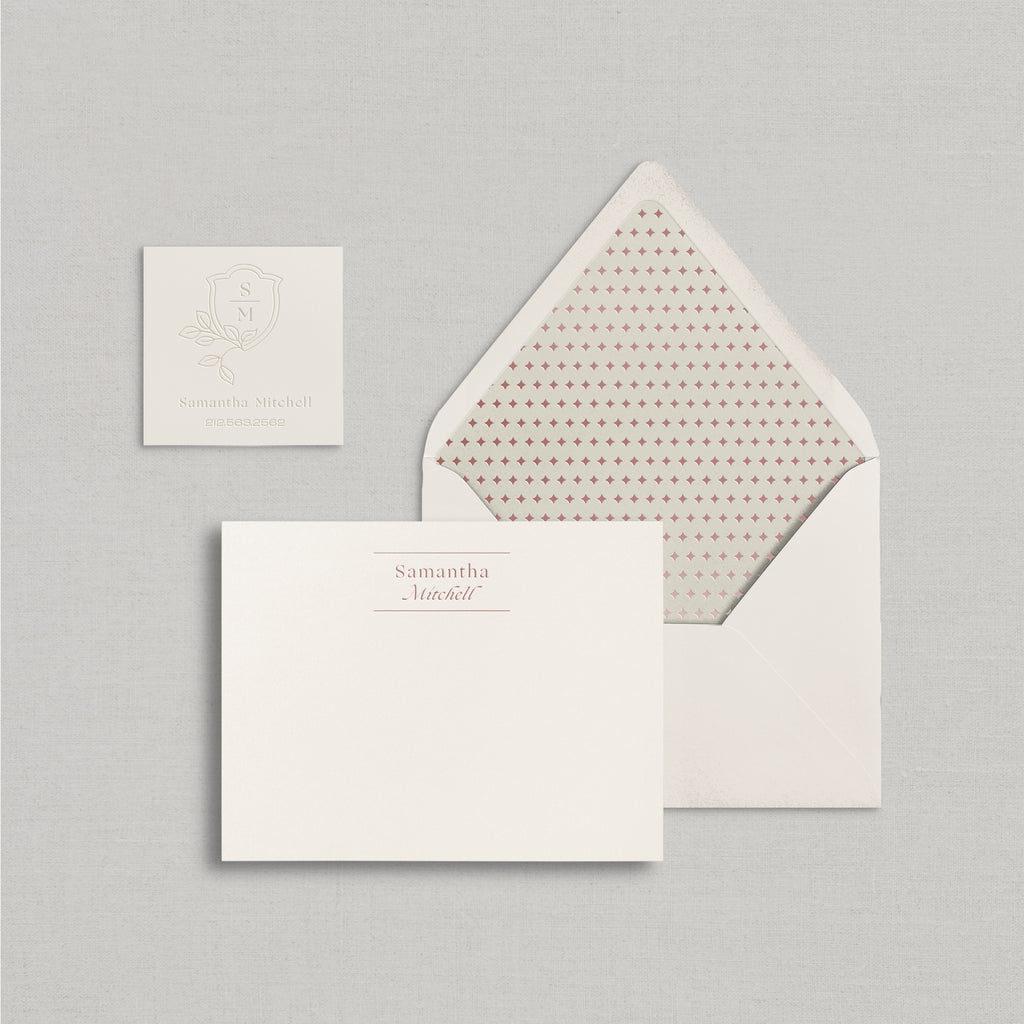 Samantha Personalized Stationery Small