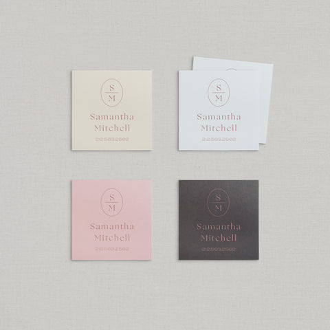 Samantha Business Cards Foil