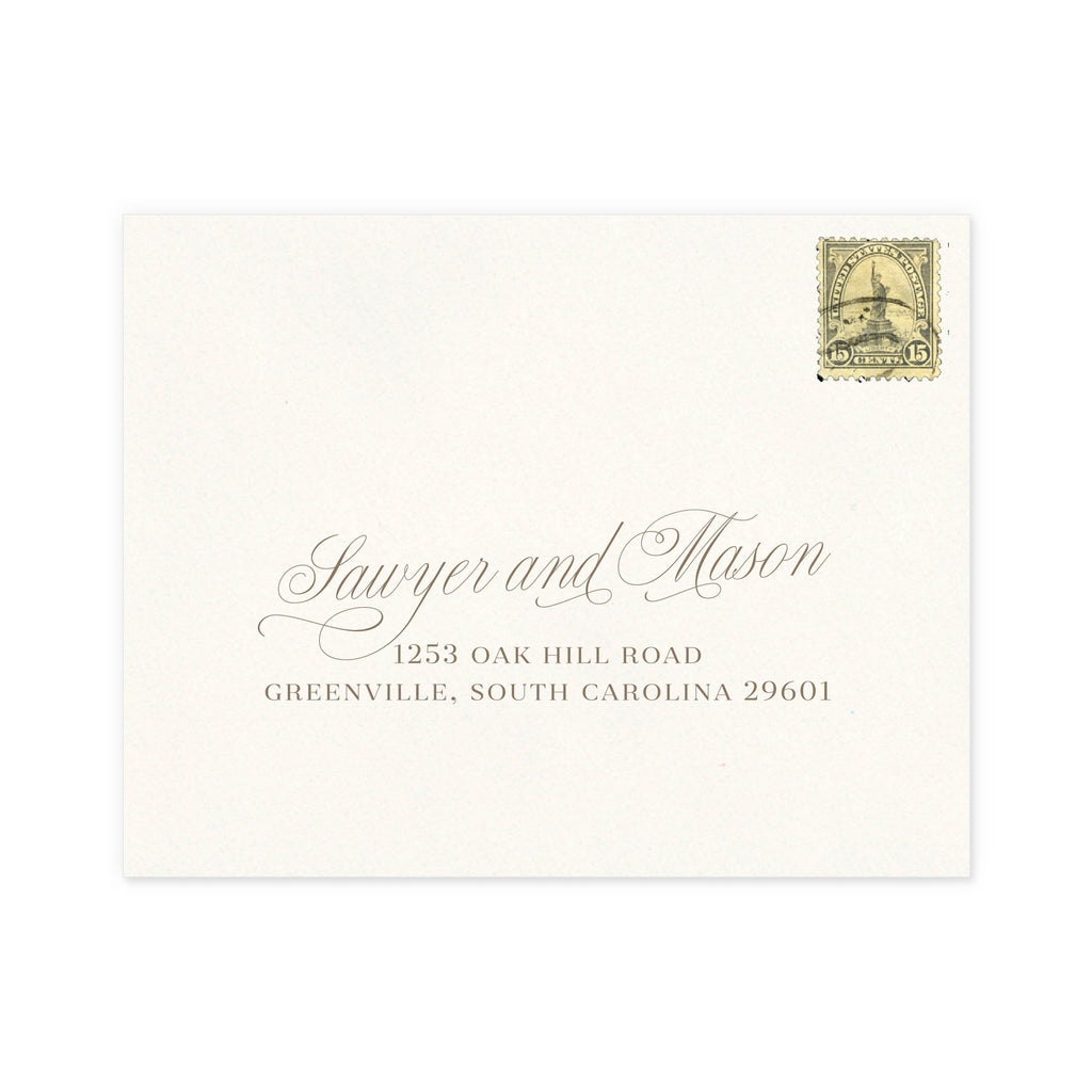 Luxe RSVP Return Address