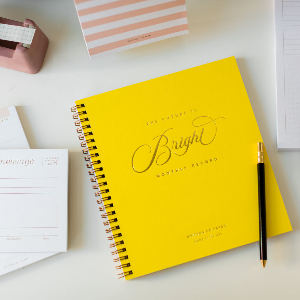 Future is Bright Monthly Planner Yellow