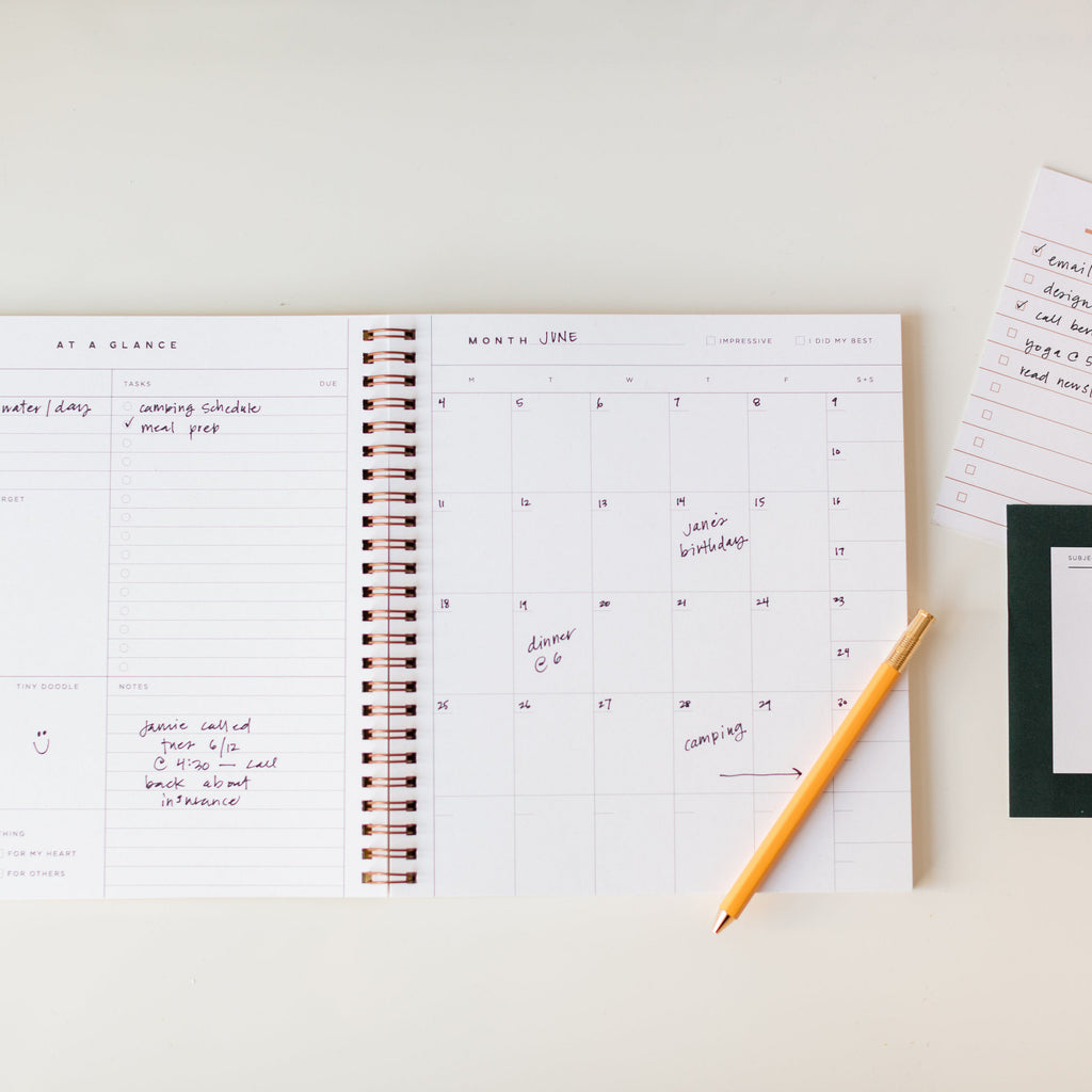 Future is Bright Monthly Planner Black