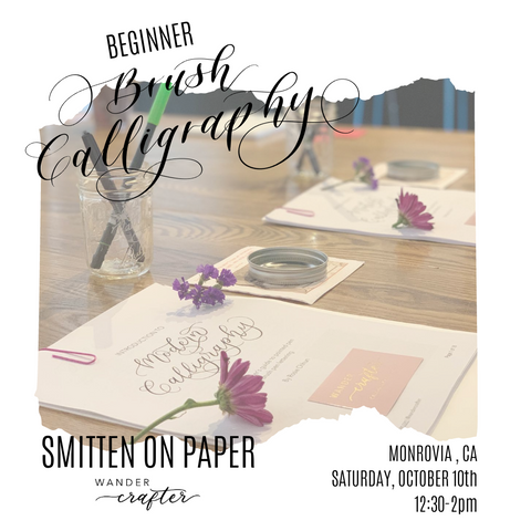 October 10: Brush Calligraphy with Wander Crafter
