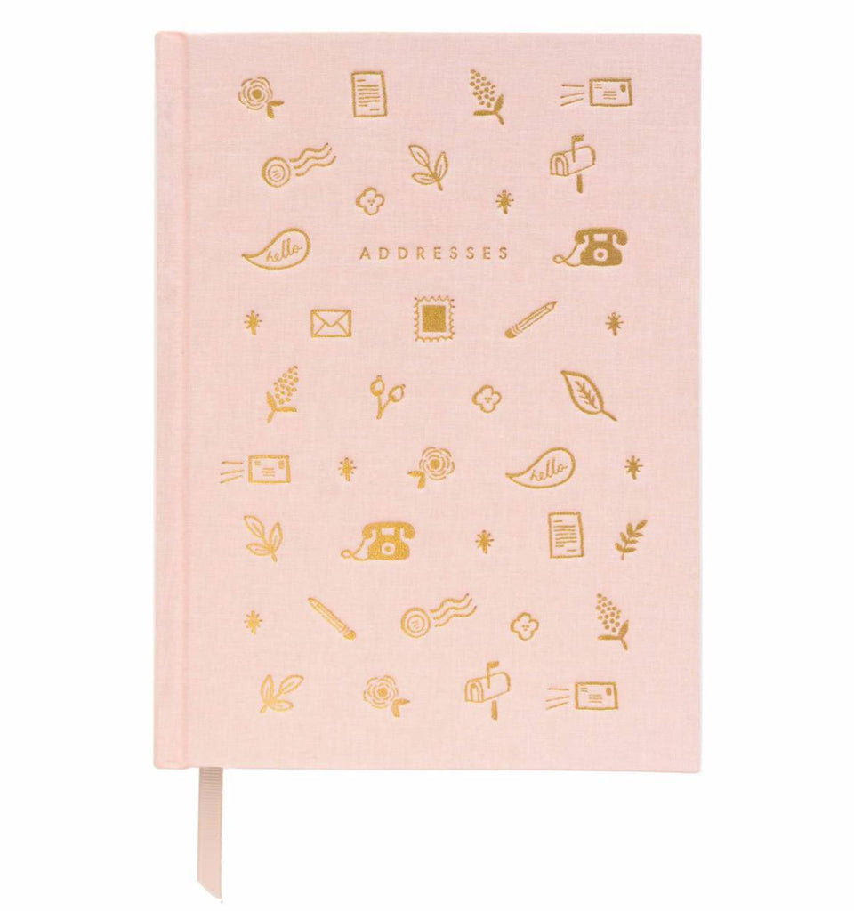 RIFLE PAPER CO. ADDRESSES NOTEBOOK (PINK)