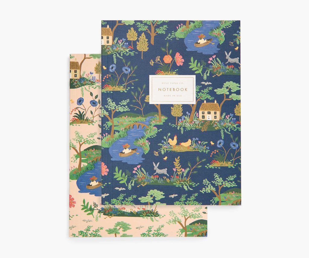 Rifle 2 Notebooks Garden Toile