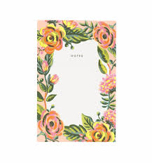 Jardin de Paris Notepad