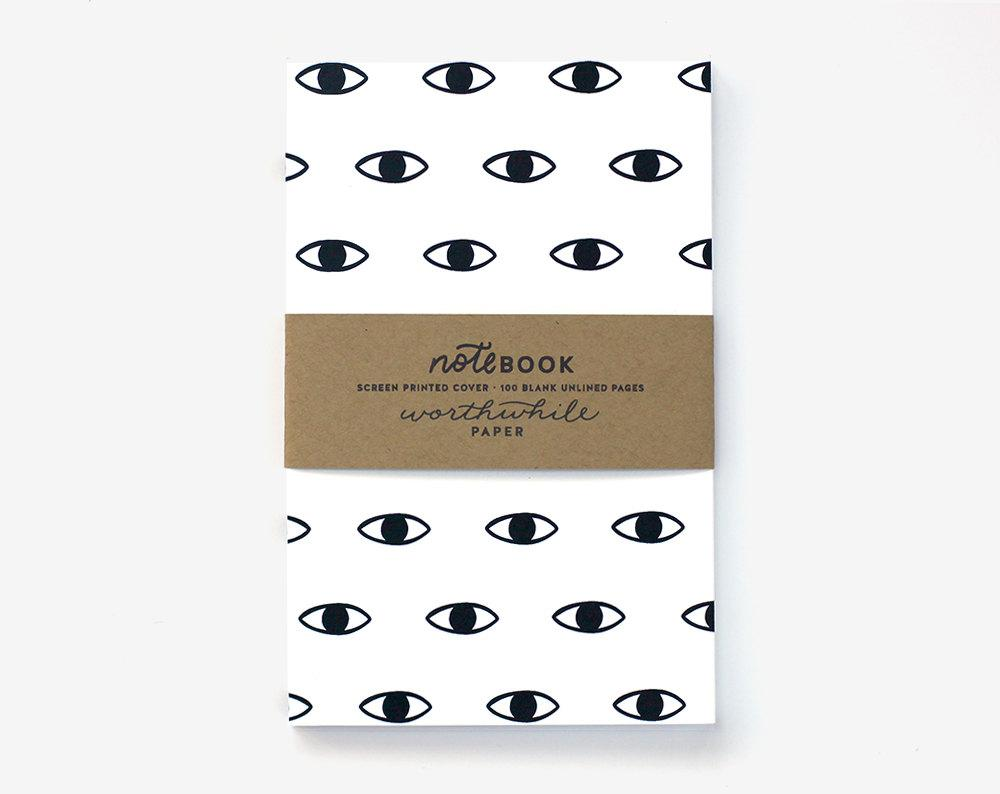 WORTHWHILE PAPER- Notebook (Eye Pattern)