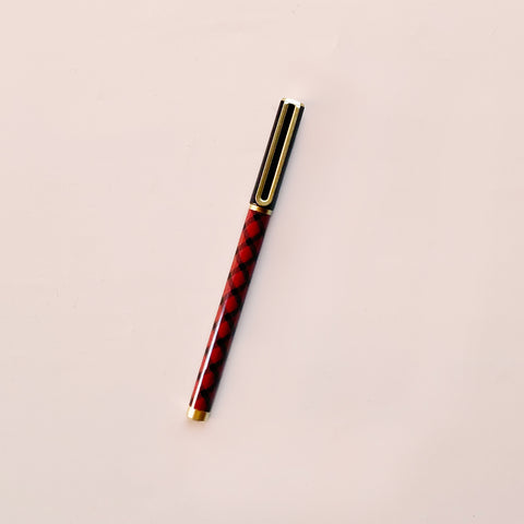 Arc Felt Tip Pen Red Tartan