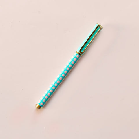 Arc Felt Tip Pen Aqua and Pink Dot