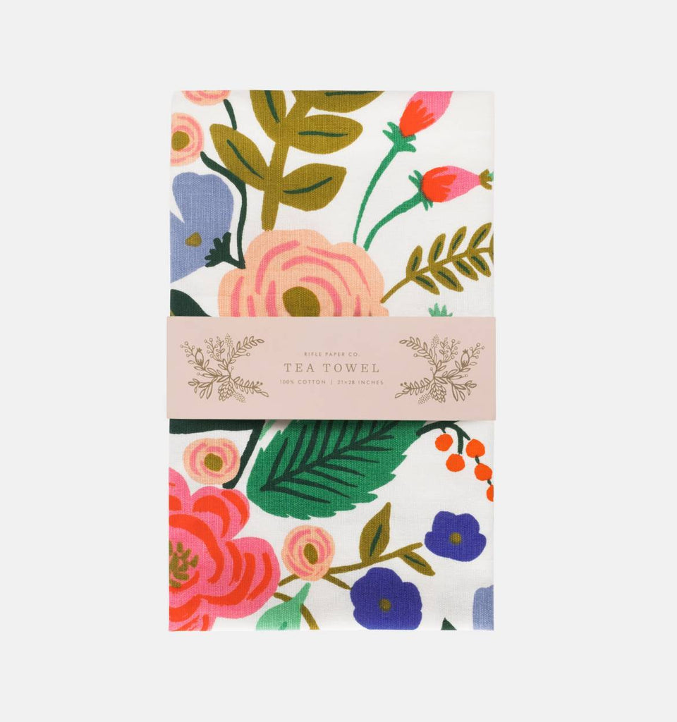 Floral Vines Tea Towel