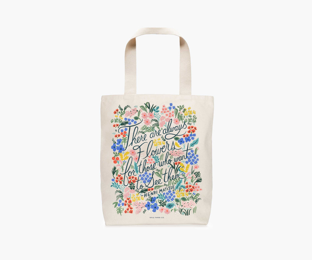 Rifle Canvas Tote Seeing Flowers