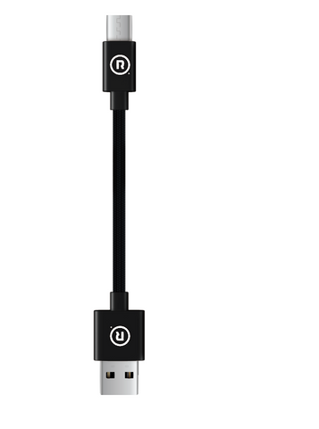 Hercules Charge to Sync - 10cm USB to Type C (Black)