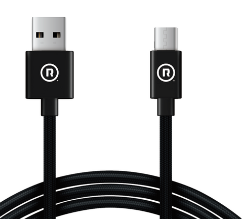 Hercules Charge to Sync - 3m USB to Type C (Black)