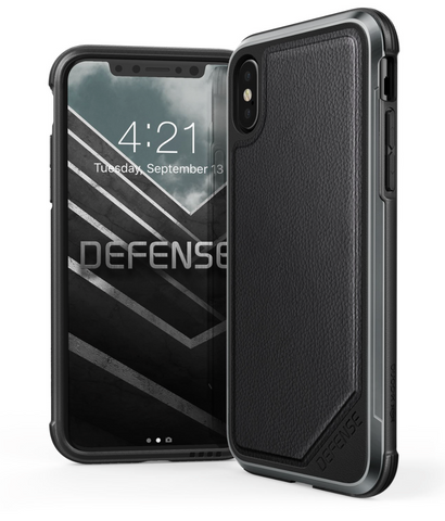 Defense Lux - iPhone X / Xs (Black Leather)