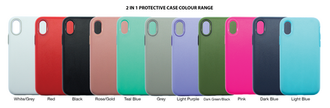 SUPER SHIELD 2 in 1 Protective Case - iPhone X and Xs (All colours for discount bundle)