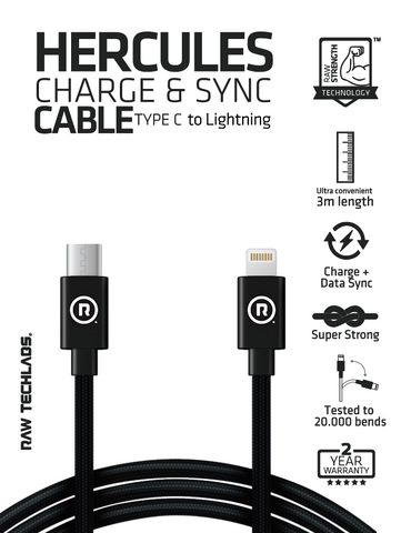 HERCULES Charge & Sync TYPE C to Lightning