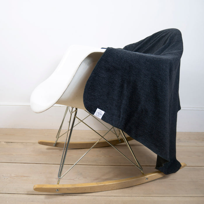 Blanket in Charcoal Marl