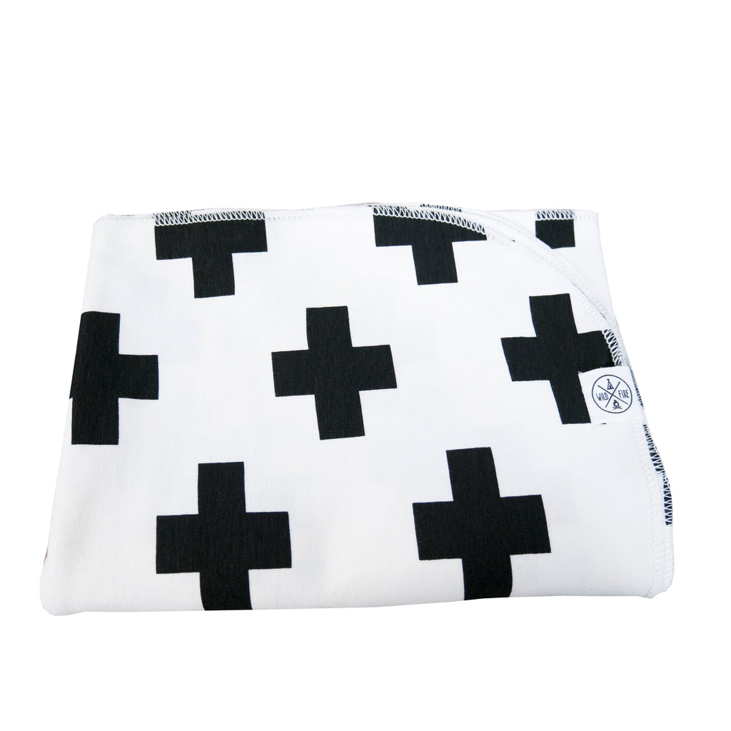 Blanket in White Cross print