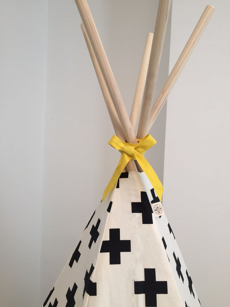 Cross Teepee Yellow Trim