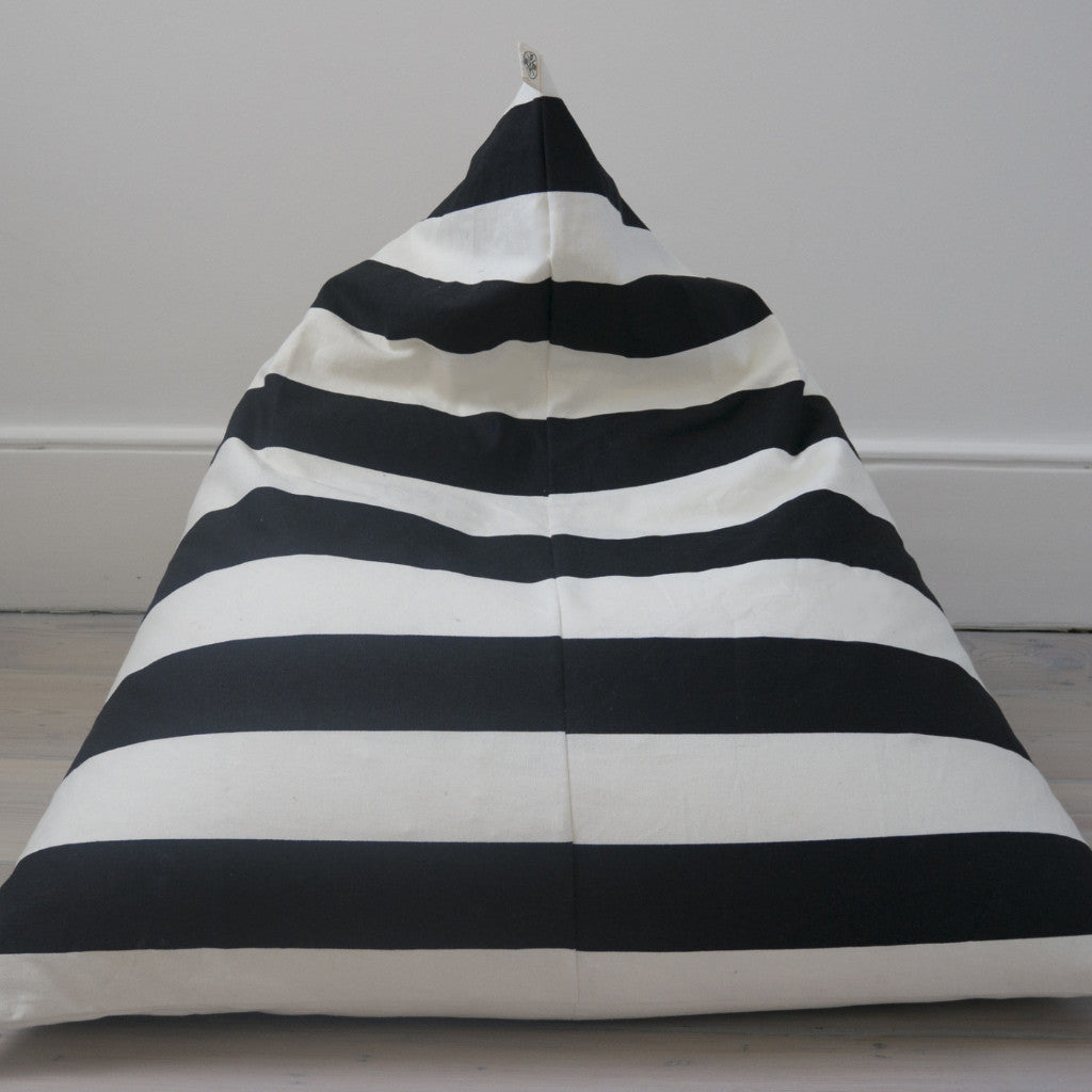 Stripe Pyramid Bean Bag