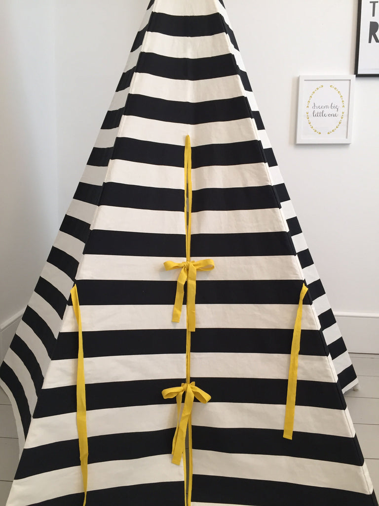 Stripe Teepee Yellow Trim