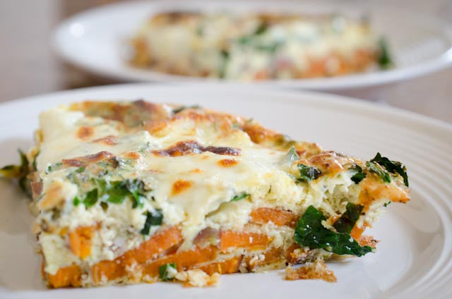 Baked Sweet Potato and Kale Frittata