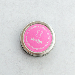 Wildcrafted solid perfume with wild rose