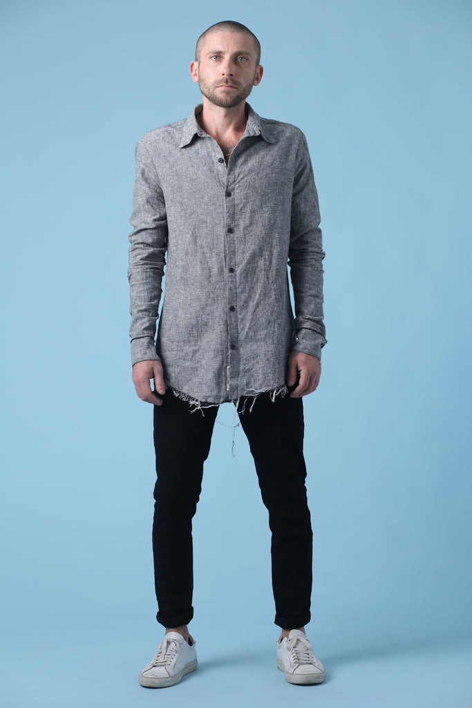 Distressed Button Down Shirt - Skint & Minted