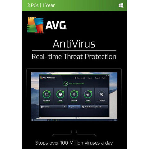 AVG BOX 1YR AVG ANTIVIRUS 3U