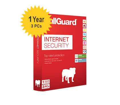 BullGuard Internet Security - 1-Year  3-PC