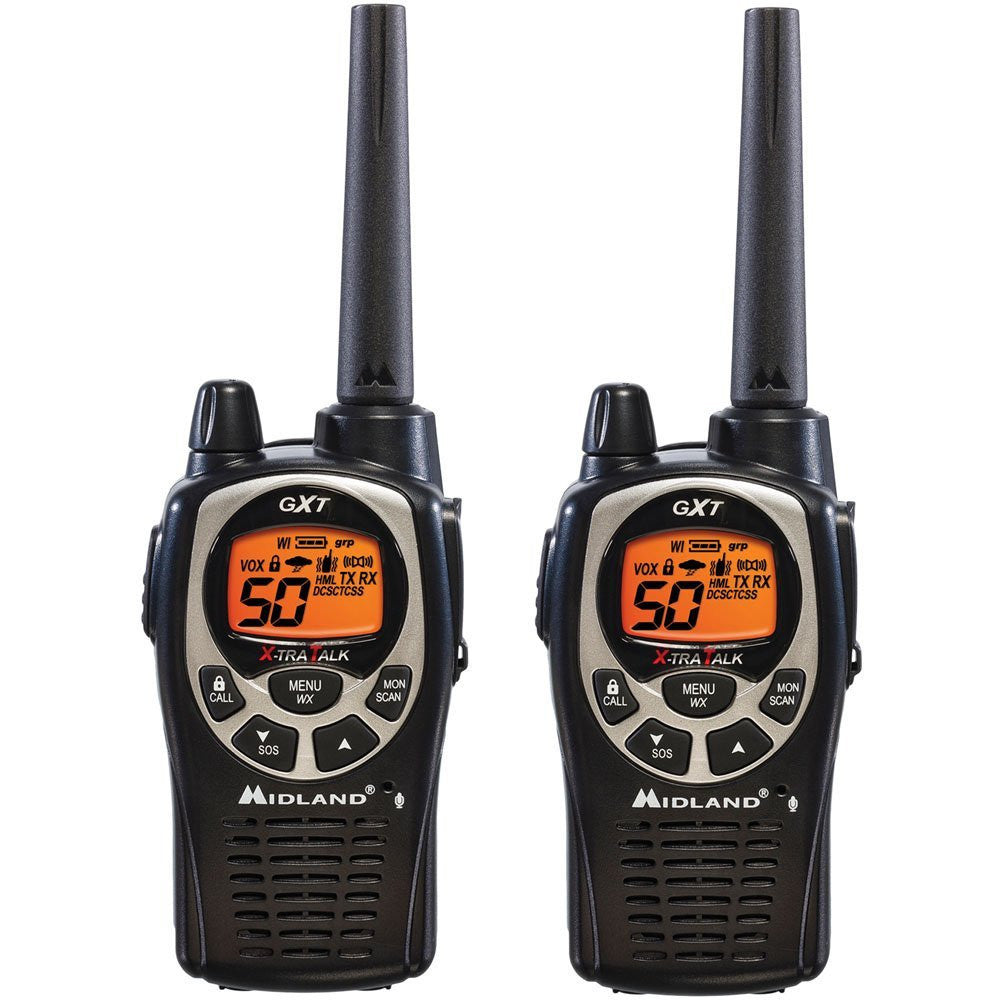 Midland GXT1000VP4 Up to 36 Mile Two-Way Radio - 158400 ft RADIOS 50 CH SOS SIREN