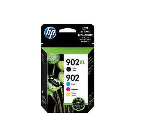 HP 902XL/902 High Yield Black and Standard C/M/Y Color Ink Cartridges T0A39AN