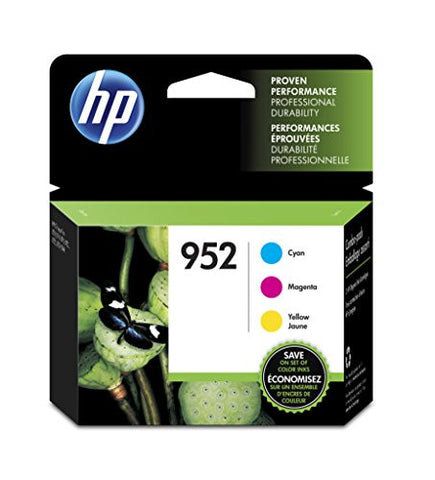 HP 952 Cyan, Magenta & Yellow Original Ink Cartridges, 3 pack