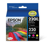 Epson T220XL-BCS Cartridge Ink, Pack of 4, (CMYK)