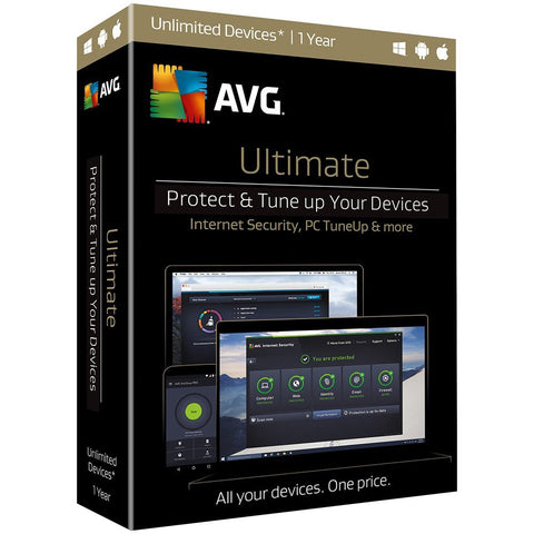 AVG Ultimate 2017, Unlimited Devices, 1 Year