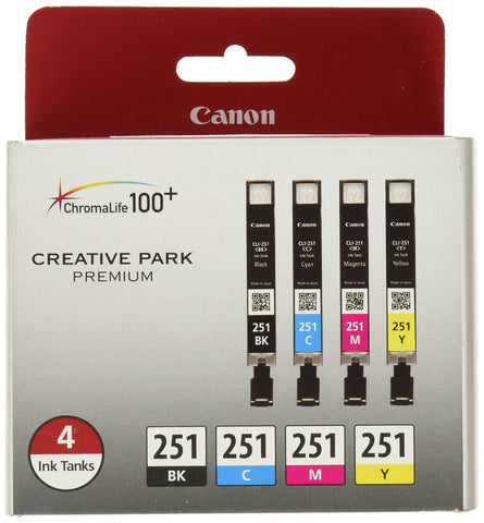 Canon (PIXMA MX922) CLI-251 - Black, Cyan, Magenta, Yellow - 4 color pack