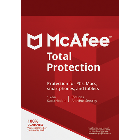 McAfee Total Protection - 1-Year / 1-Device - Global + Promotional Software