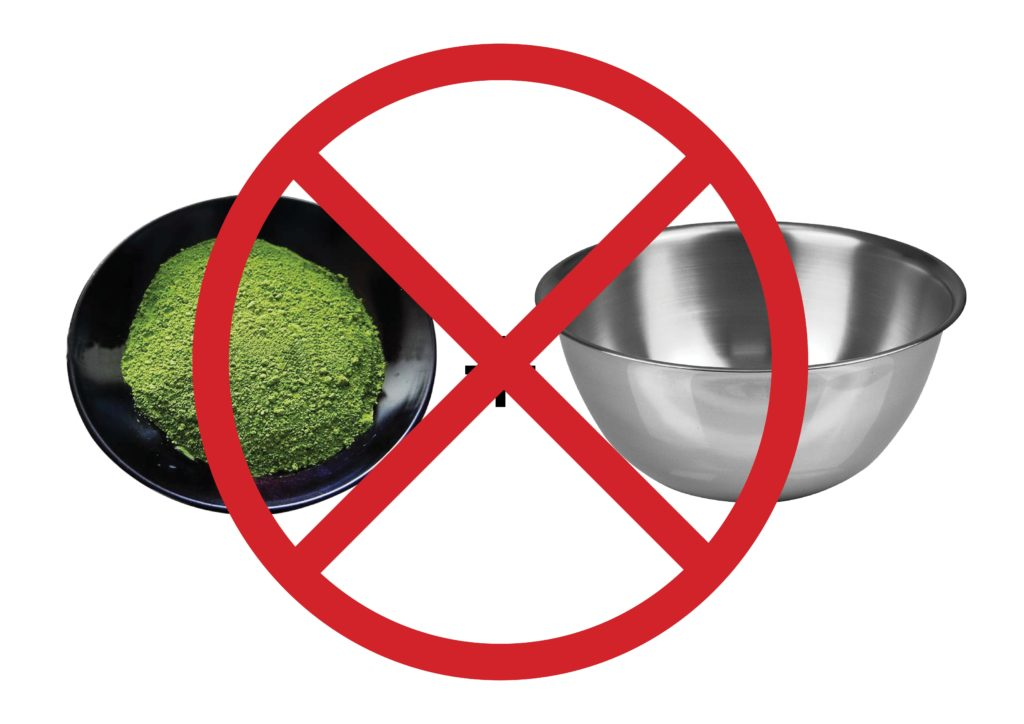 Matcha Green Tea Hates Stainless Steel