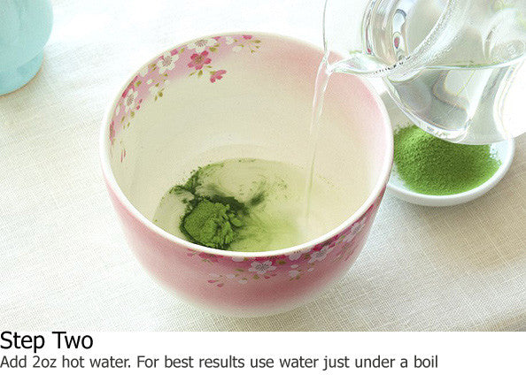 Add 2oz hot water. For best results use water just under a boil.