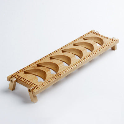 Bamboo single layer product cup holder drying cup rack tea ceremony tea cup shelf tea cup display rack tea tray accessories
