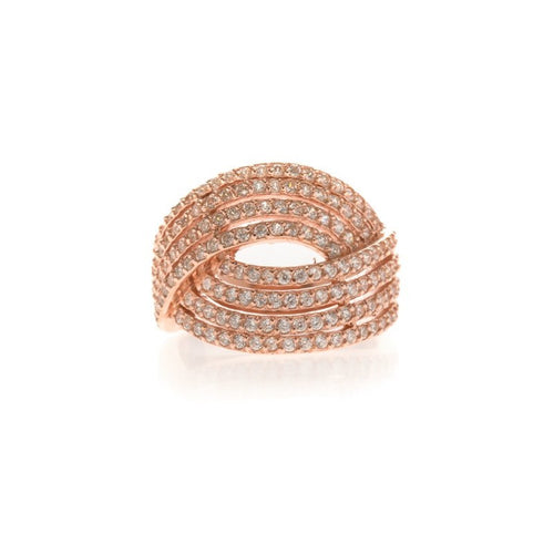 Bague Argent Or Rose Idole